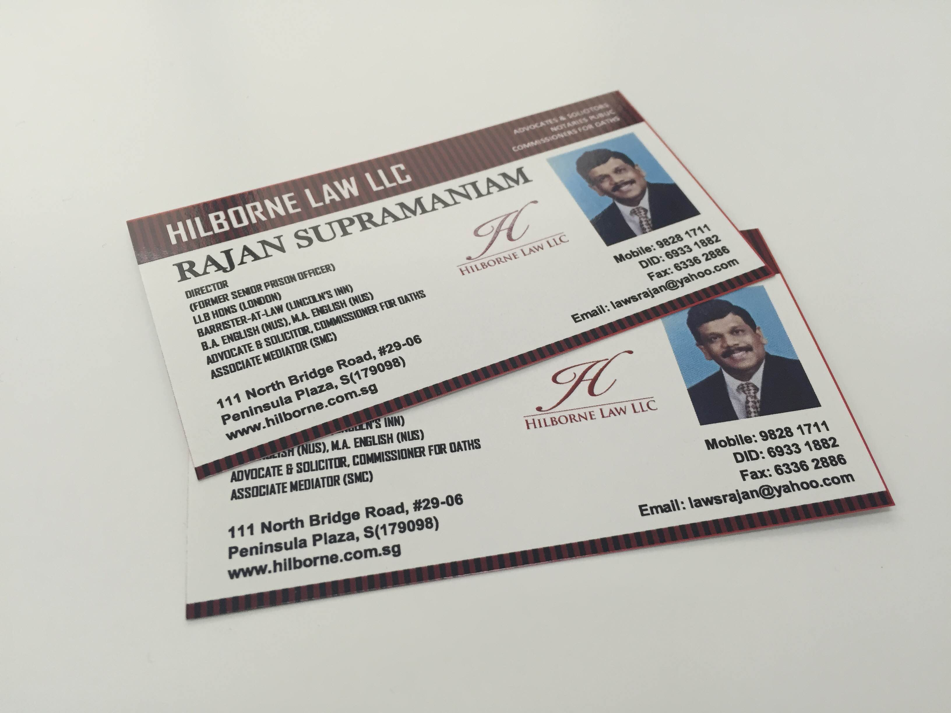 Name cards printing print city singapore reheart
